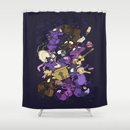 Garage Party! Shower Curtain