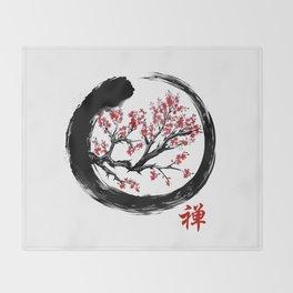 Japanese ENSO ZEN Buddhist SHIRT Throw Blanket