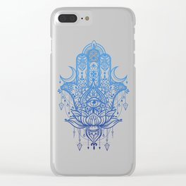 Hamsa Lotus Hand Clear iPhone Case