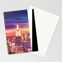 New York City Dusk Sunset Stationery Cards