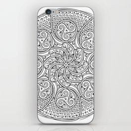Celtic Swirl Mandala iPhone Skin