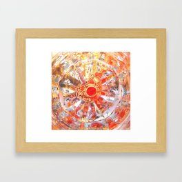 Aztec Solar Wheel Framed Art Print