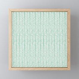 Knit Wave Mint Framed Mini Art Print