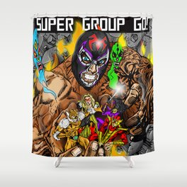 Beyond the grave Shower Curtain