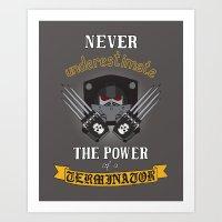 warhammer Art Prints featuring Terminator 2, Warhammer 40K by ZsaMo Design