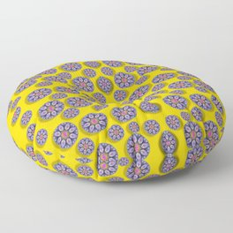 Sunshine and floral in mind for decorative delight Floor Pillow
