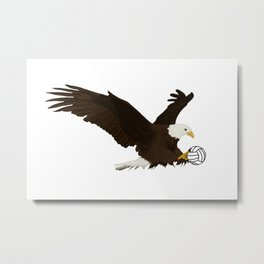 Volleyball Eagle Metal Print