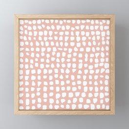 Dots / Pink Framed Mini Art Print