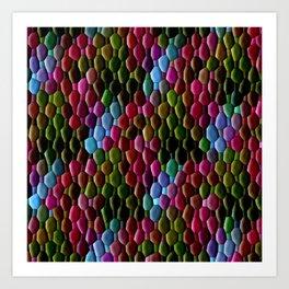 Colored Cobblestones... Art Print