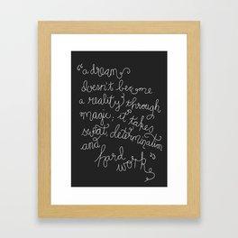 Dream and Do Framed Art Print