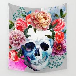 Flower Skull Wall Tapestry