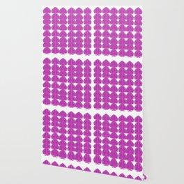 Lux. mandalas Pink on white Wallpaper