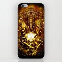 ganesha iPhone & iPod Skins featuring Ganesha by Giorgio Finamore