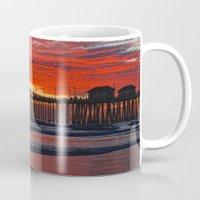 calendars Mugs featuring Huntington Beach Sunset 1/19/14 by John Minar Fine Art Photography