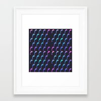 dolphin Framed Art Prints featuring Dolphin. by Daniel Montero