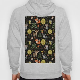 Cute Colorful Wood Animals In Forest Hoody