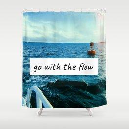 Go With The Flow Martha's Vineyard Shower Curtain