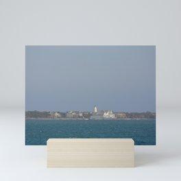 Ocracoke Island from the ferry Mini Art Print