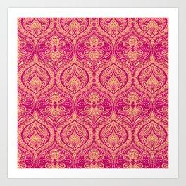 Simple Ogee Pink Art Print