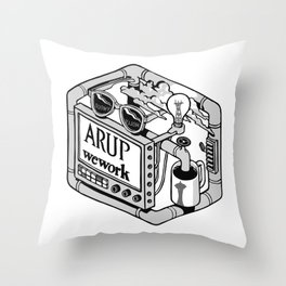 Arup WeWork West Project Patch Throw Pillow