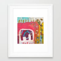 india Framed Art Prints featuring India by Joana Carvalho