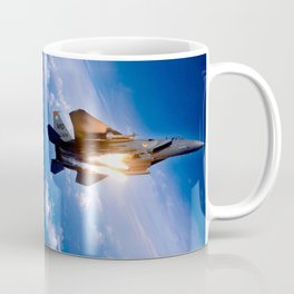 f-15 jet launching missile Coffee Mug