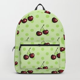 CHERRIES ON MINT GREEN Backpack