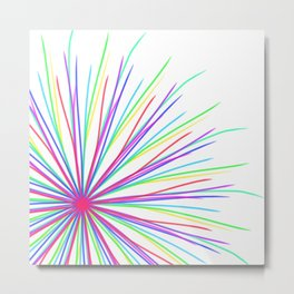 Multi-Colored Floral Metal Print