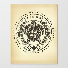 Tribal Aloha Mandala Canvas Print