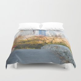 Central Park as the City Wakes Up Duvet Cover