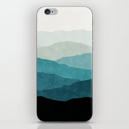 Fading Mountains iPhone Skin