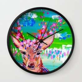 Deer Print Wall Clock