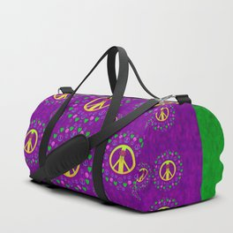 Peace be with us in love and understanding Duffle Bag