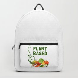Plant Based vegan veggie eco Backpack