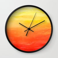 sunset Wall Clocks featuring Sunset by Timone