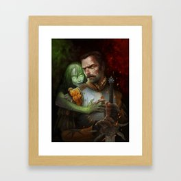 Condemned By Fire Framed Art Print