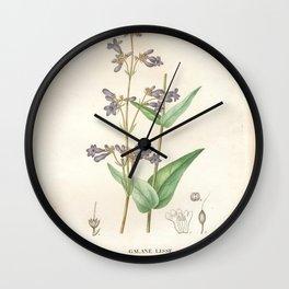 Flower galane lisse (Fr) Wall Clock