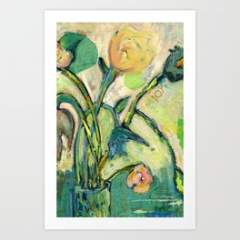 'Joy' Contemporary Floral   Art Print