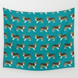 Sheltie shetland sheep dog pattern gift perfect for the sheep dog owner dog breed patterns Wall Tapestry
