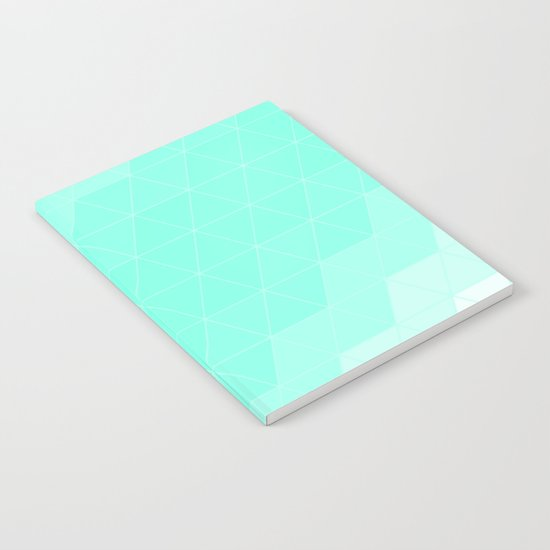 Mint Triangle Notebook