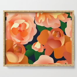 Orange Roses Serving Tray