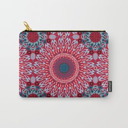 Calligraphic Boho (Red) Carry-All Pouch