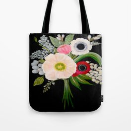Spring Bouquet on Slate Tote Bag