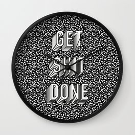 Get Shit Done Memphis Static Wall Clock