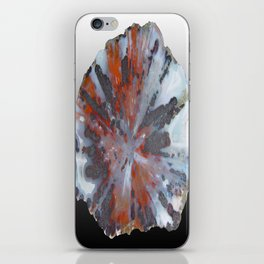 Cady Mountain Aragonite Pseudomorph (Sagenite) iPhone Skin