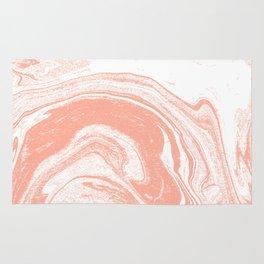 Marble coral pastel 3 Suminagashi watercolor pattern art pisces water wave ocean minimal design Rug