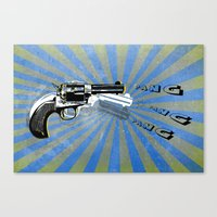 guns Canvas Prints featuring guns by mark ashkenazi