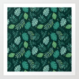 Leafy Palms Art Print
