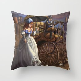 Steampunk Cinderella Throw Pillow