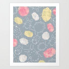 Water Bugs Art Print